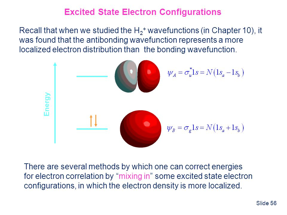 Excited State Electron Configurations
