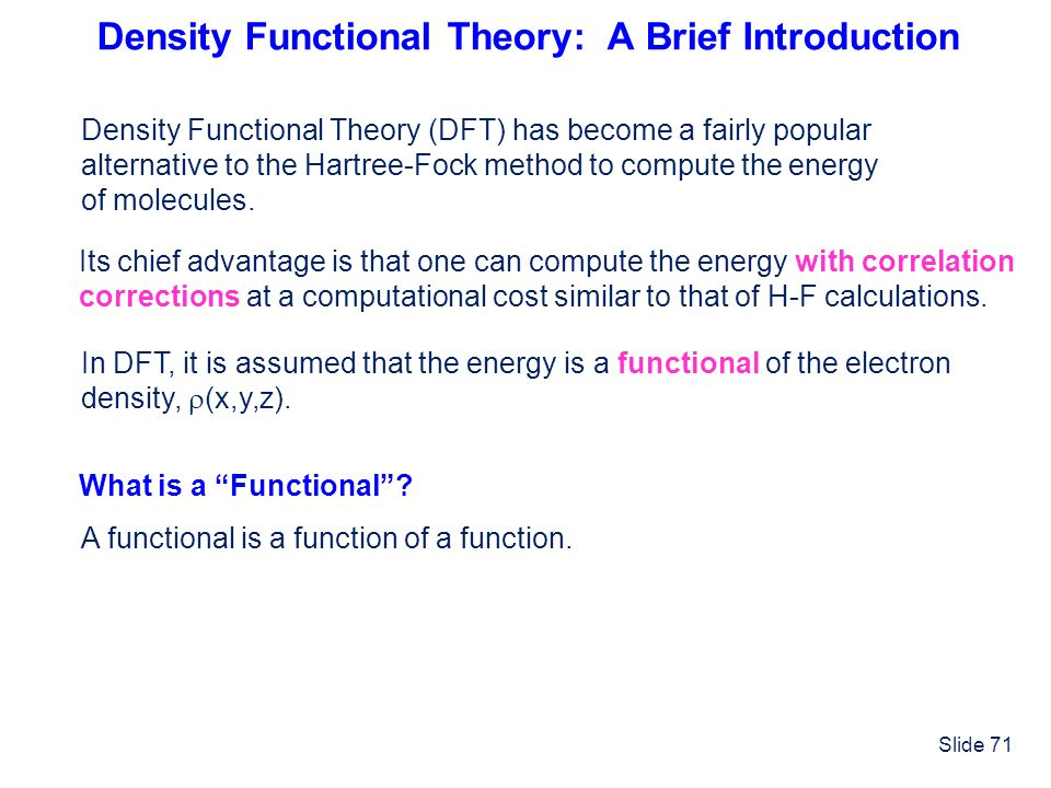 Density Functional Theory: A Brief Introduction