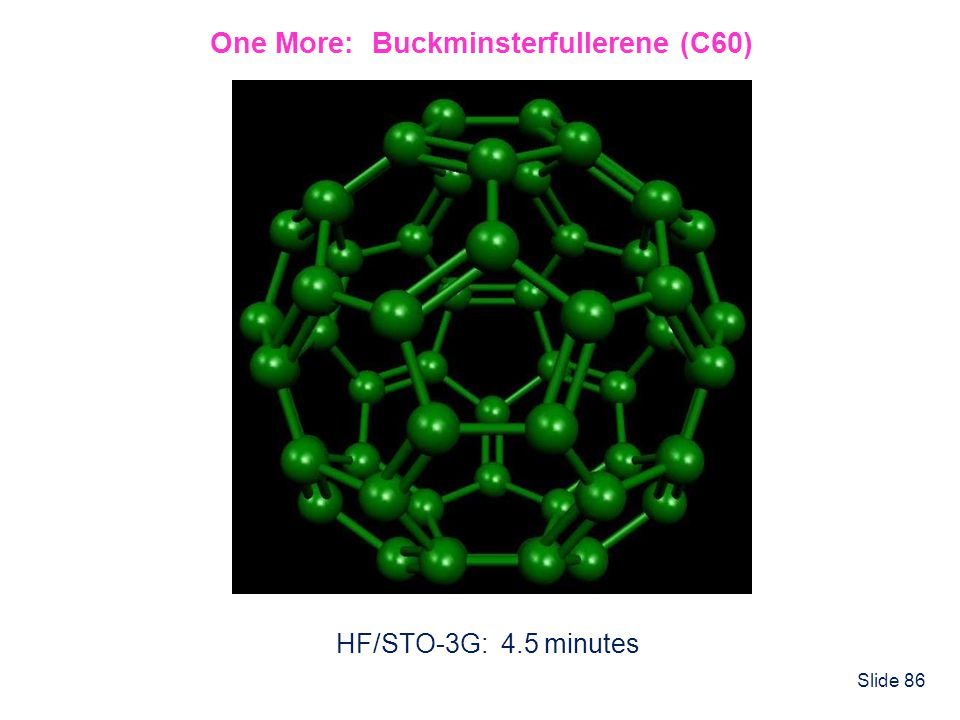 One More: Buckminsterfullerene (C60)