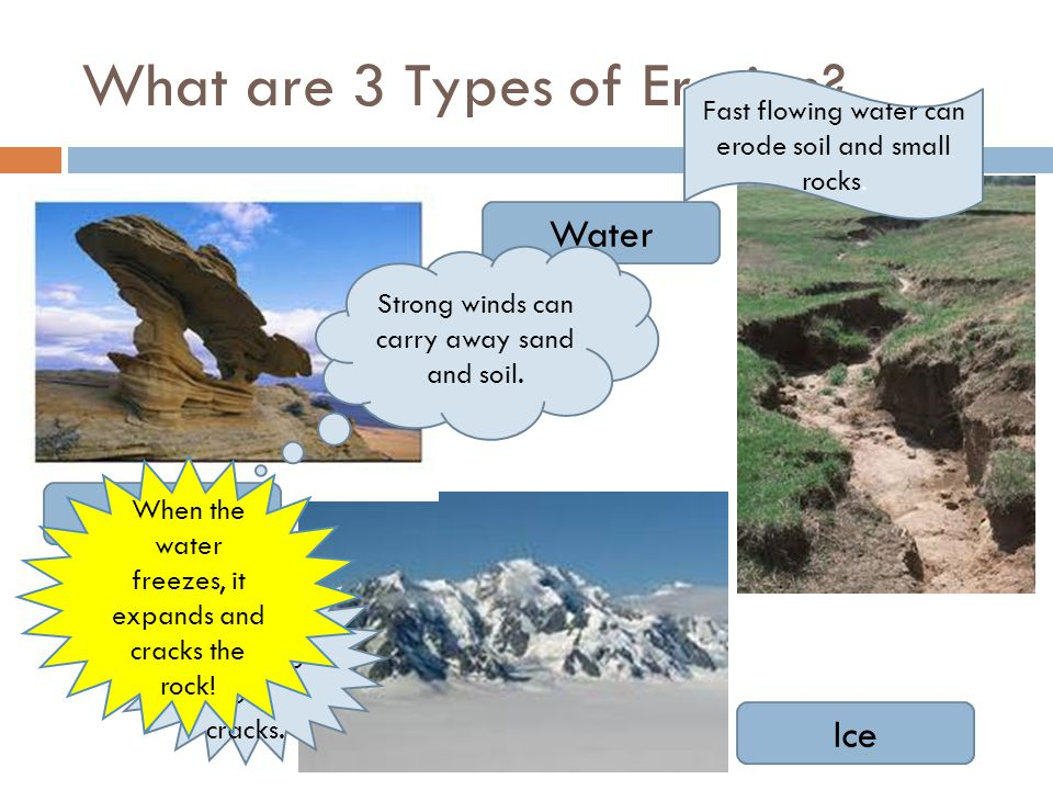 What are 3 Types of Erosion