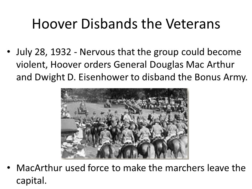 Hoover Disbands the Veterans