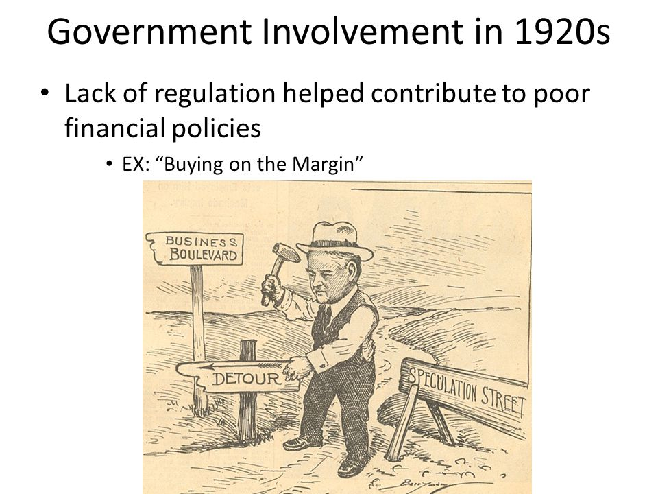 Government Involvement in 1920s
