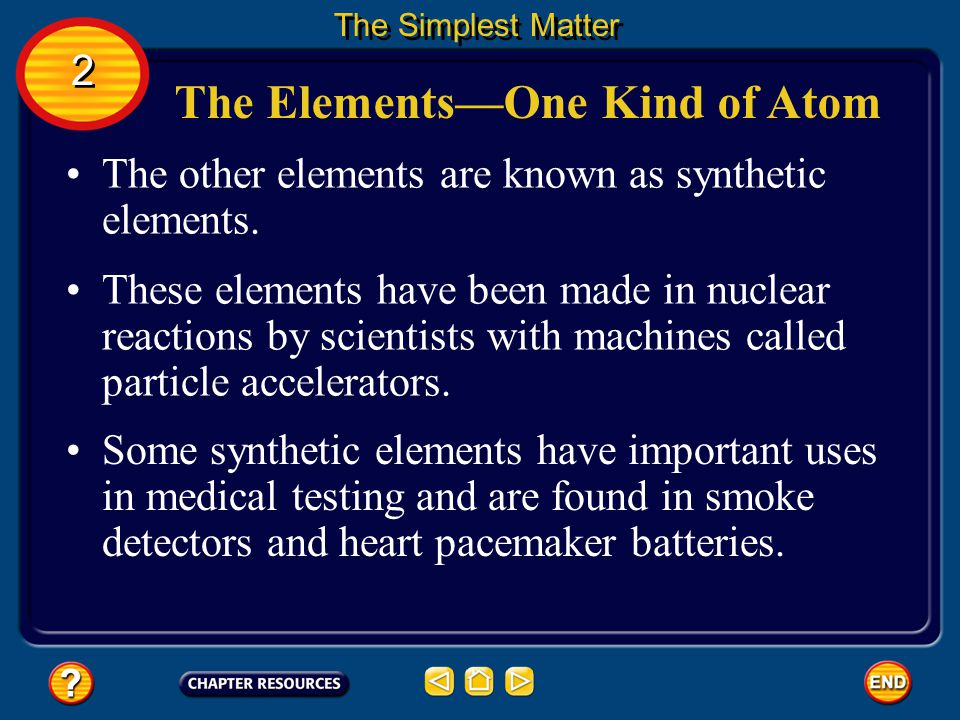 The Elements—One Kind of Atom
