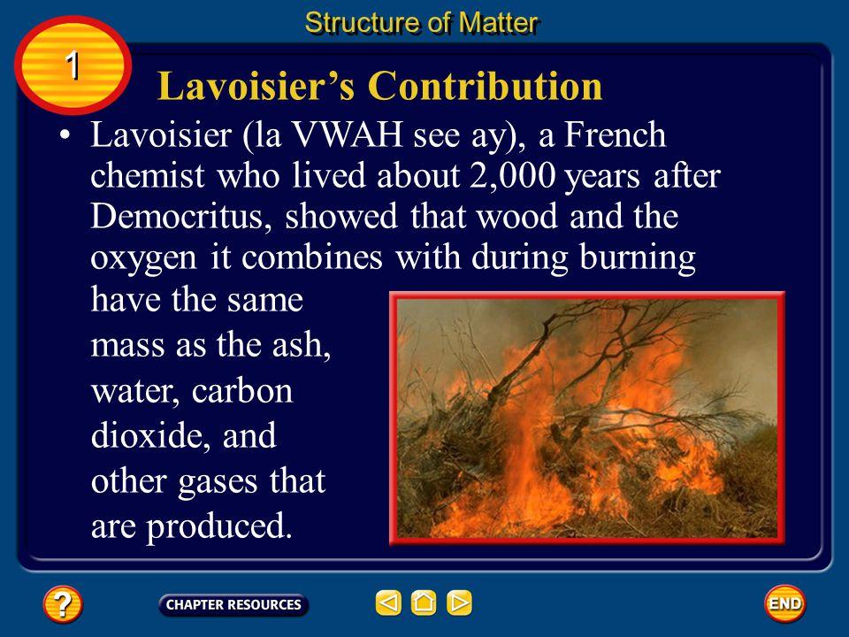 Lavoisier's Contribution