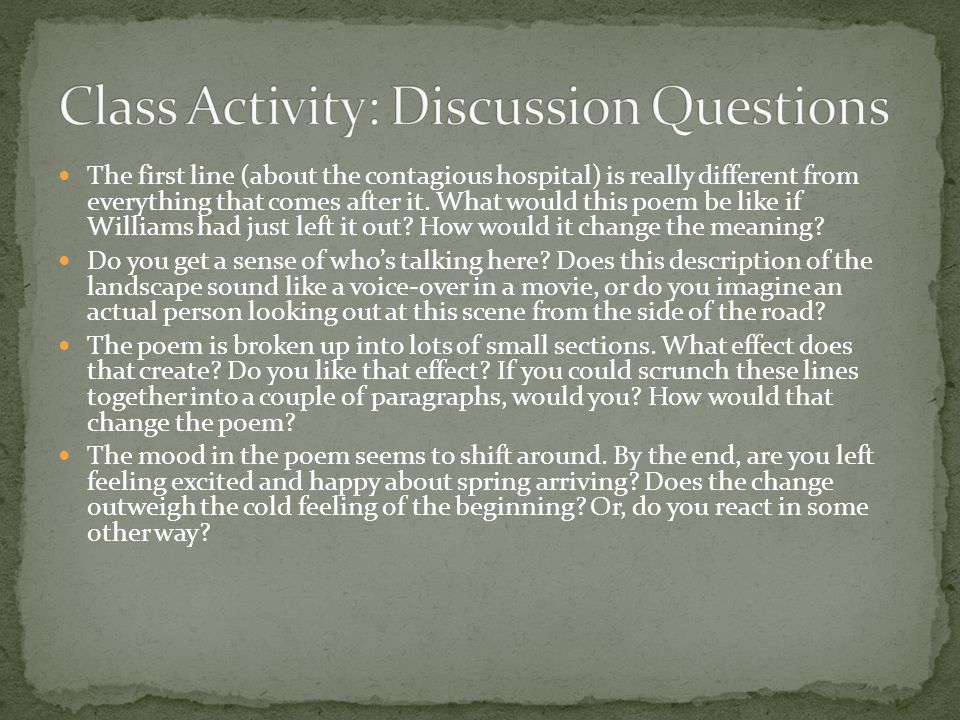 Class Activity: Discussion Questions