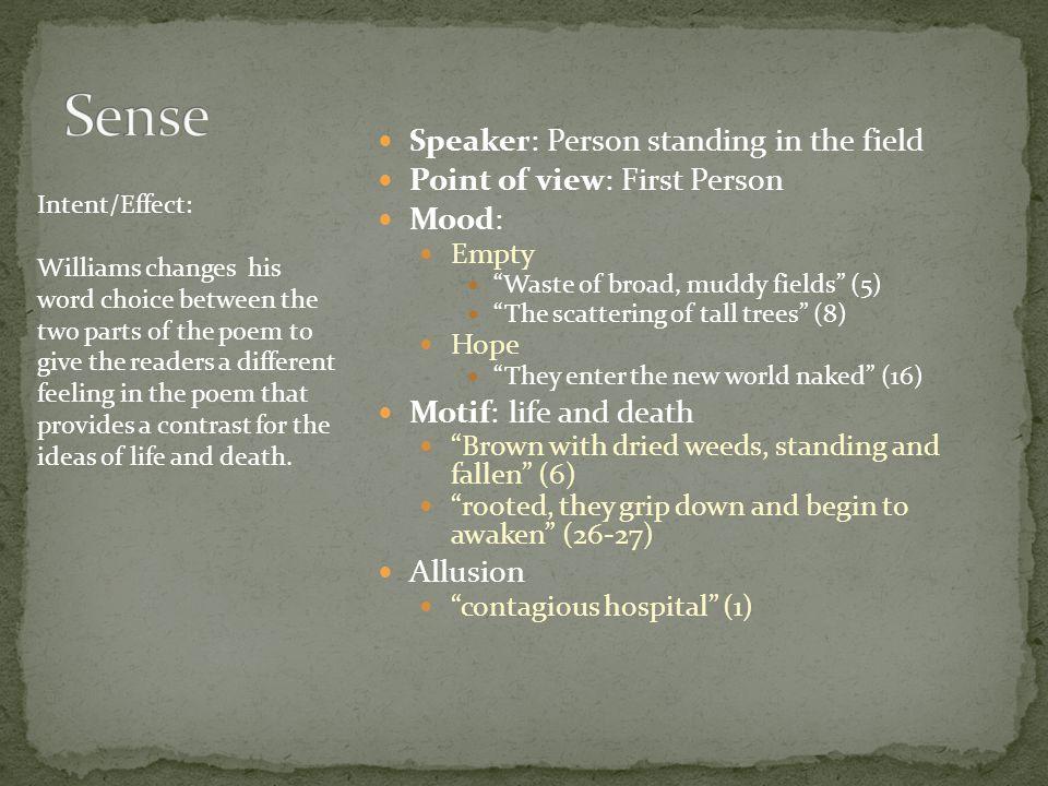 Sense Speaker: Person standing in the field