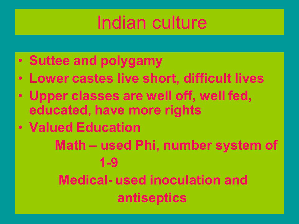 Indian culture Suttee and polygamy