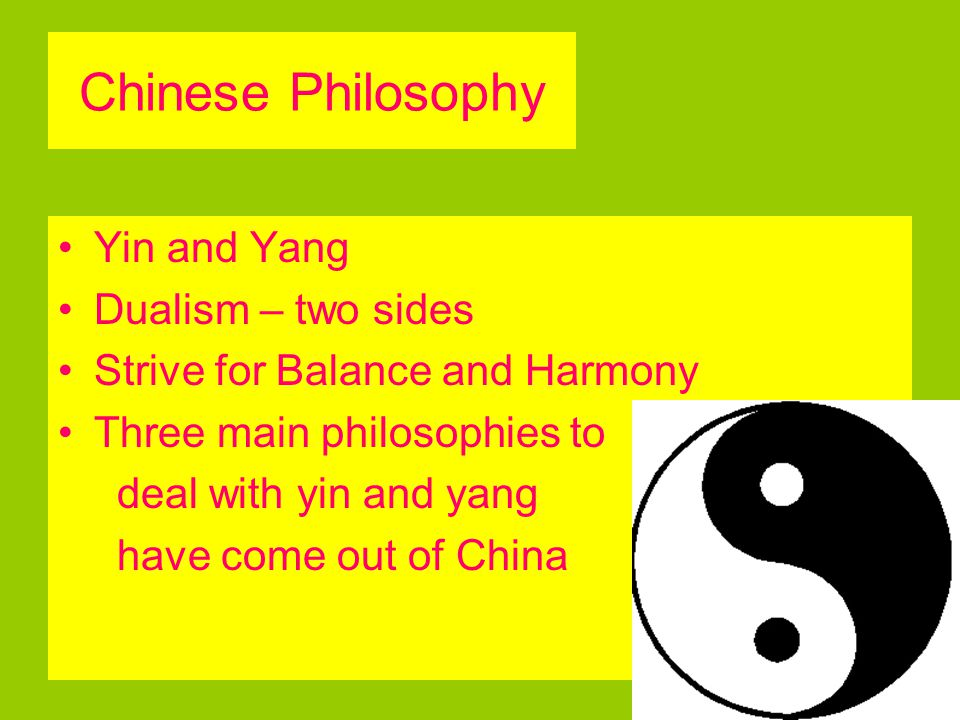 Chinese Philosophy Yin and Yang Dualism – two sides
