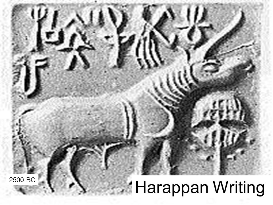 2500 BC Harappan Writing