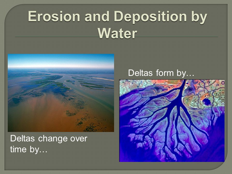 Erosion and Deposition by Water