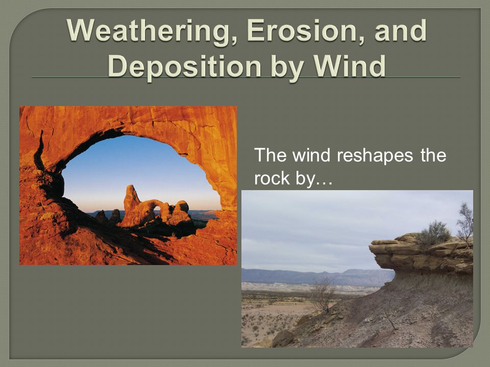 Weathering, Erosion, and Deposition by Wind