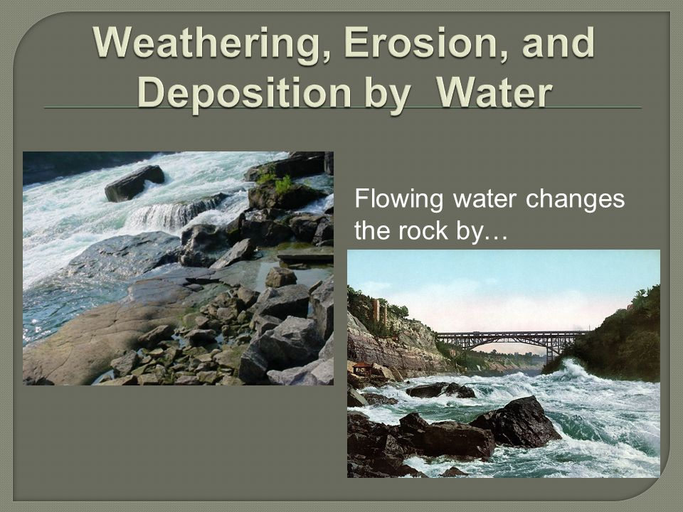 Weathering, Erosion, and Deposition by Water