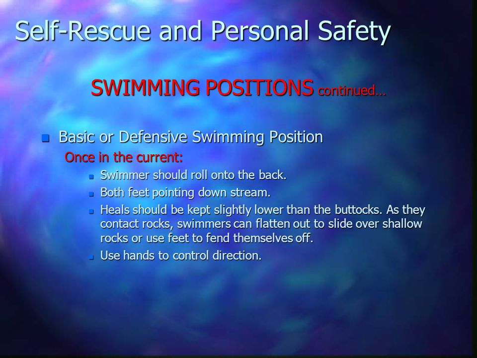 Self-Rescue and Personal Safety