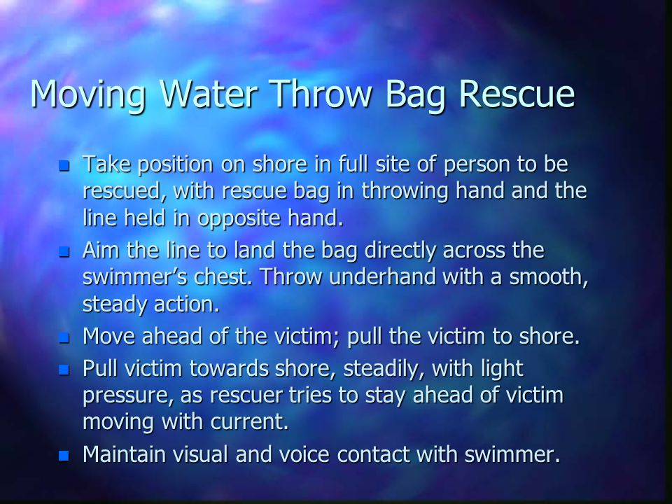 Moving Water Throw Bag Rescue