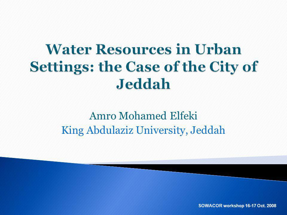 Water Resources in Urban Settings: the Case of the City of Jeddah