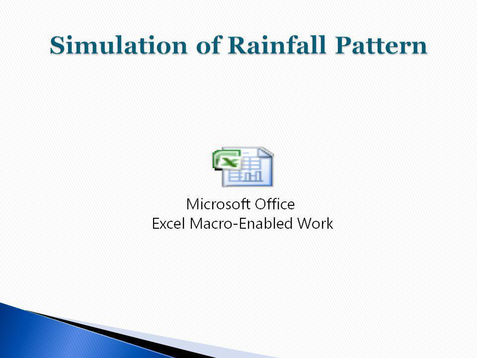 Simulation of Rainfall Pattern