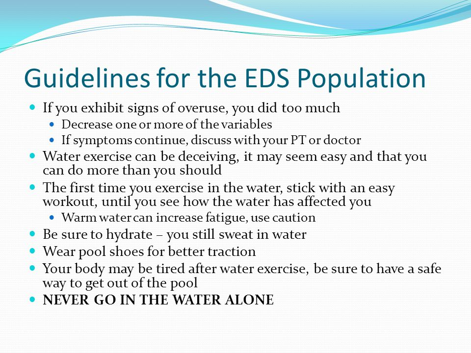 Guidelines for the EDS Population
