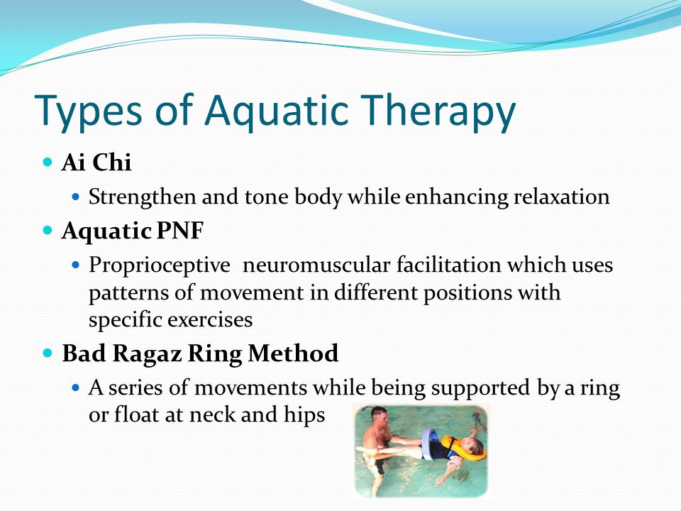 Types of Aquatic Therapy