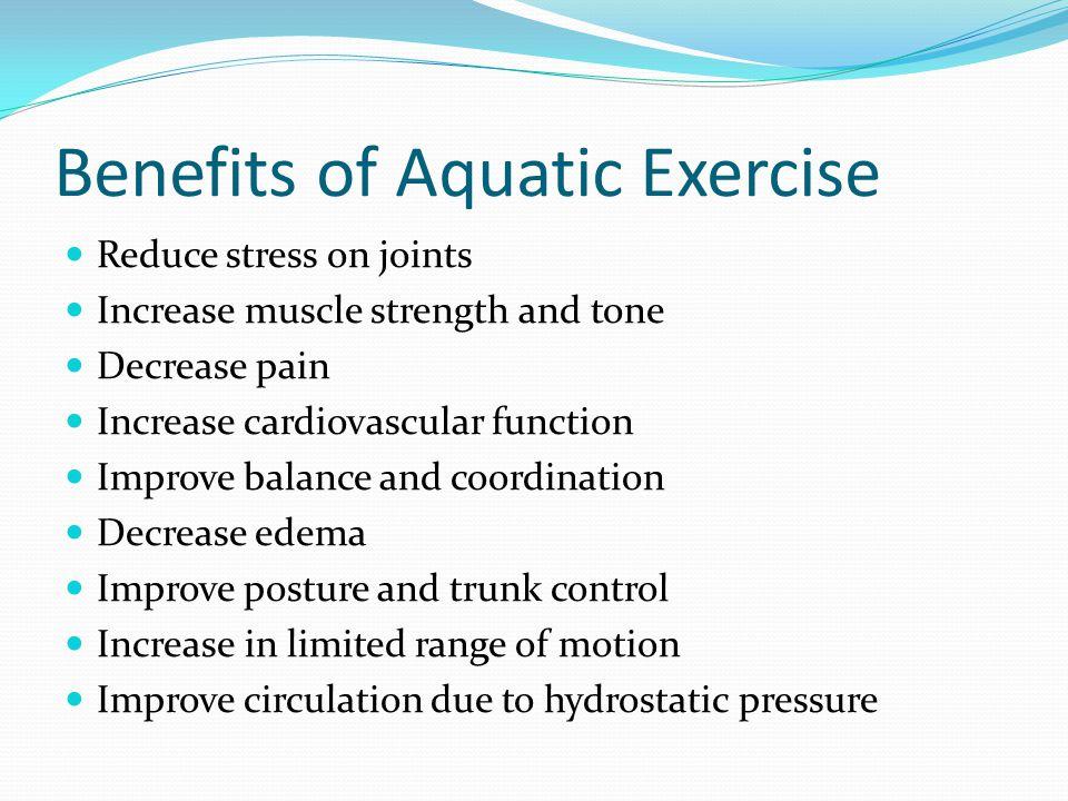 Benefits of Aquatic Exercise