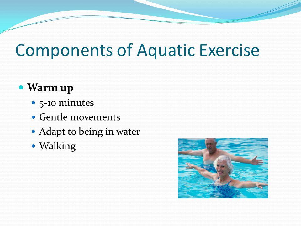 Components of Aquatic Exercise