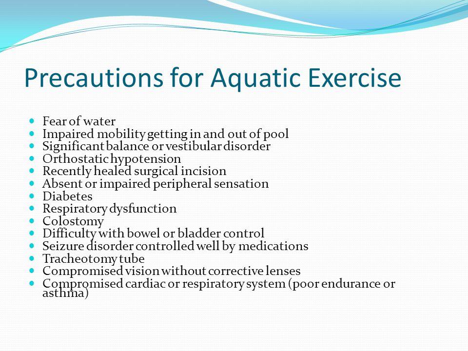 Precautions for Aquatic Exercise