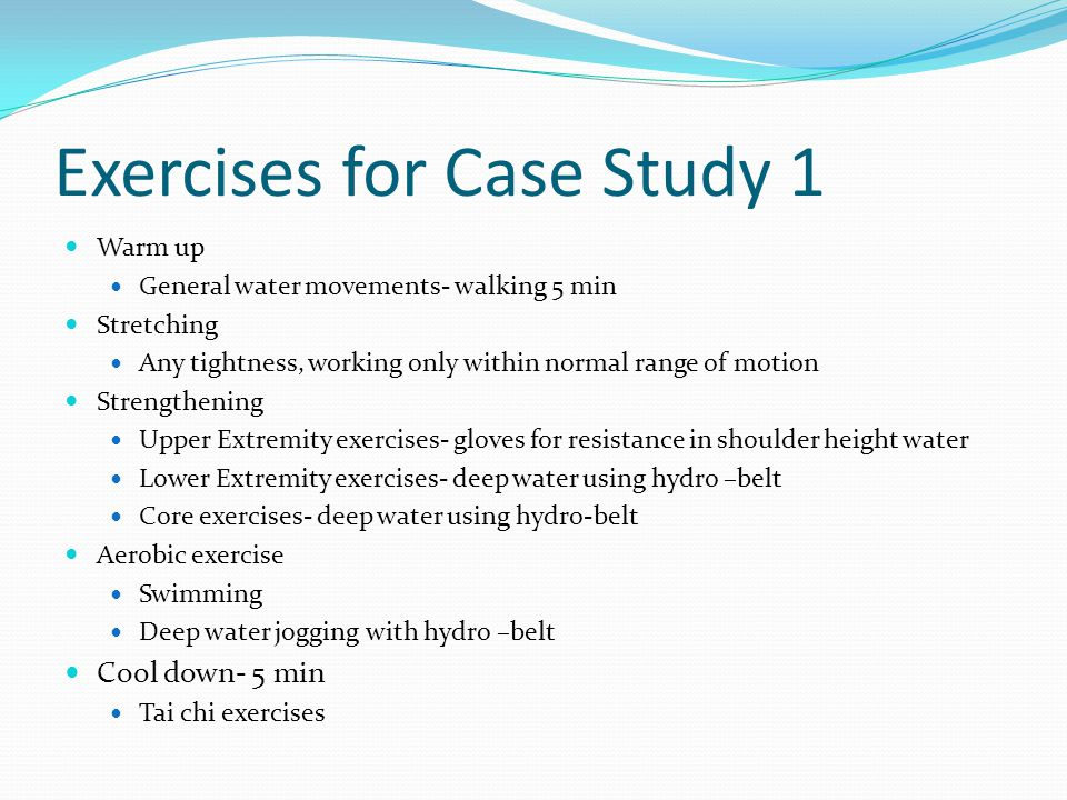 Exercises for Case Study 1