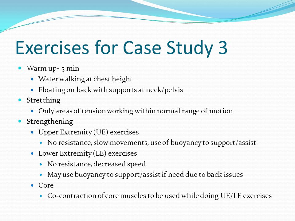 Exercises for Case Study 3