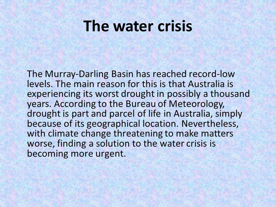 The water crisis