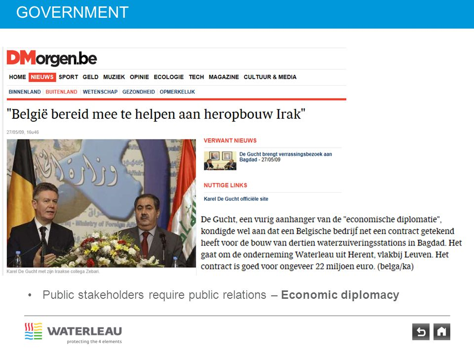 government Insert newspaper head Karel De Gucht