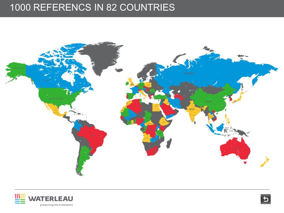 1000 REFERENCS IN 82 COUNTRIES