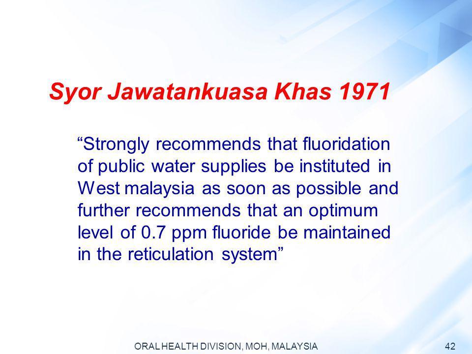 Syor Jawatankuasa Khas 1971