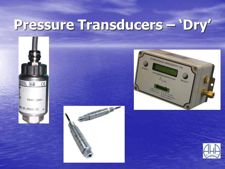 Pressure Transducers – 'Dry'