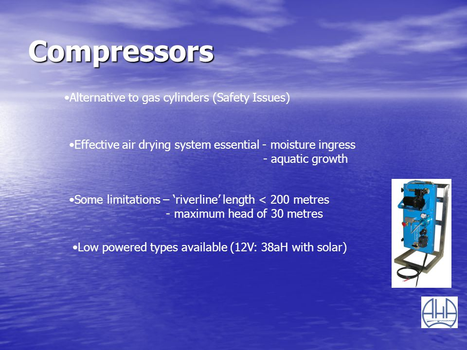 Compressors Alternative to gas cylinders (Safety Issues)