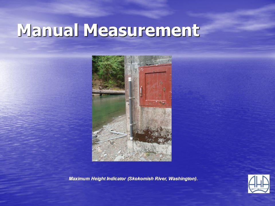 Maximum Height Indicator (Skokomish River, Washington).