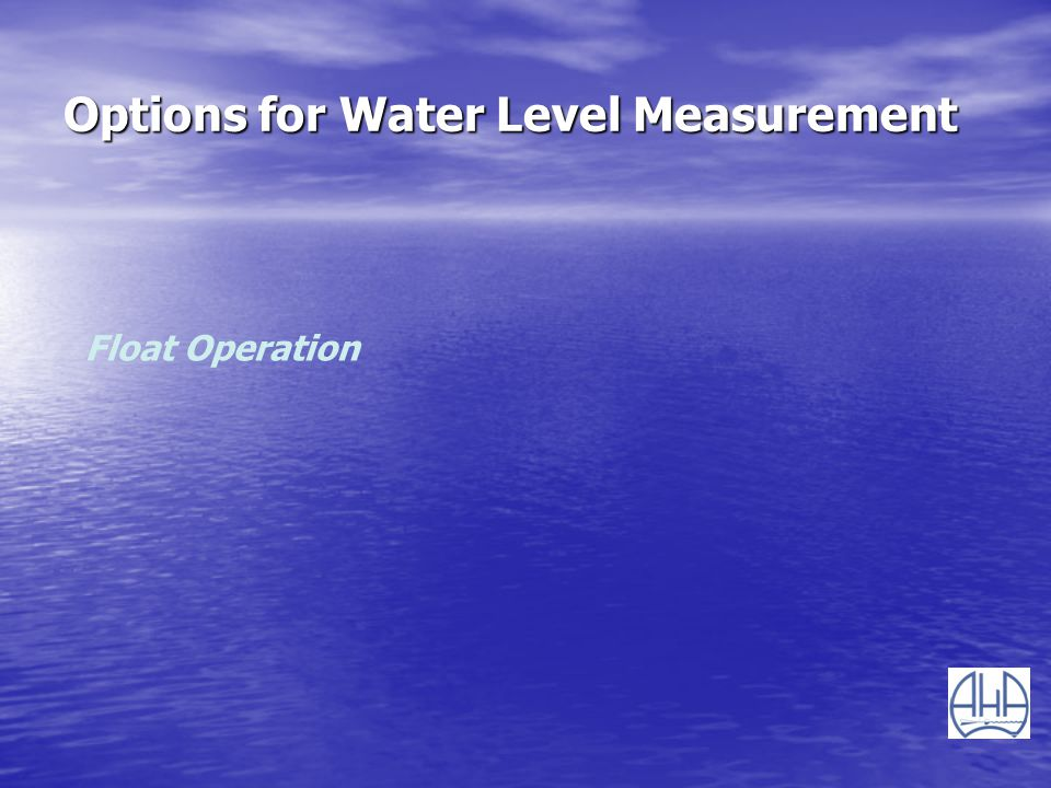 Options for Water Level Measurement