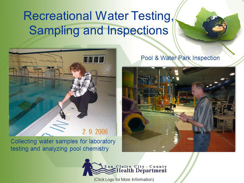 Recreational Water Testing, Sampling and Inspections