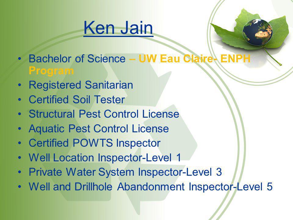 Ken Jain Bachelor of Science – UW Eau Claire- ENPH Program