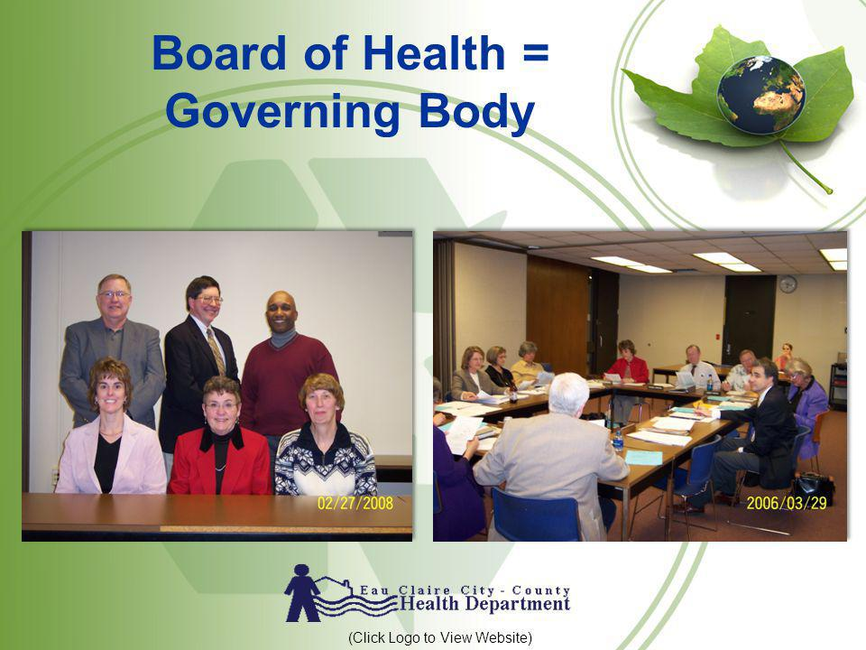 Board of Health = Governing Body