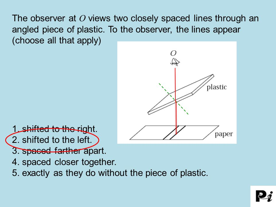 4. spaced closer together.