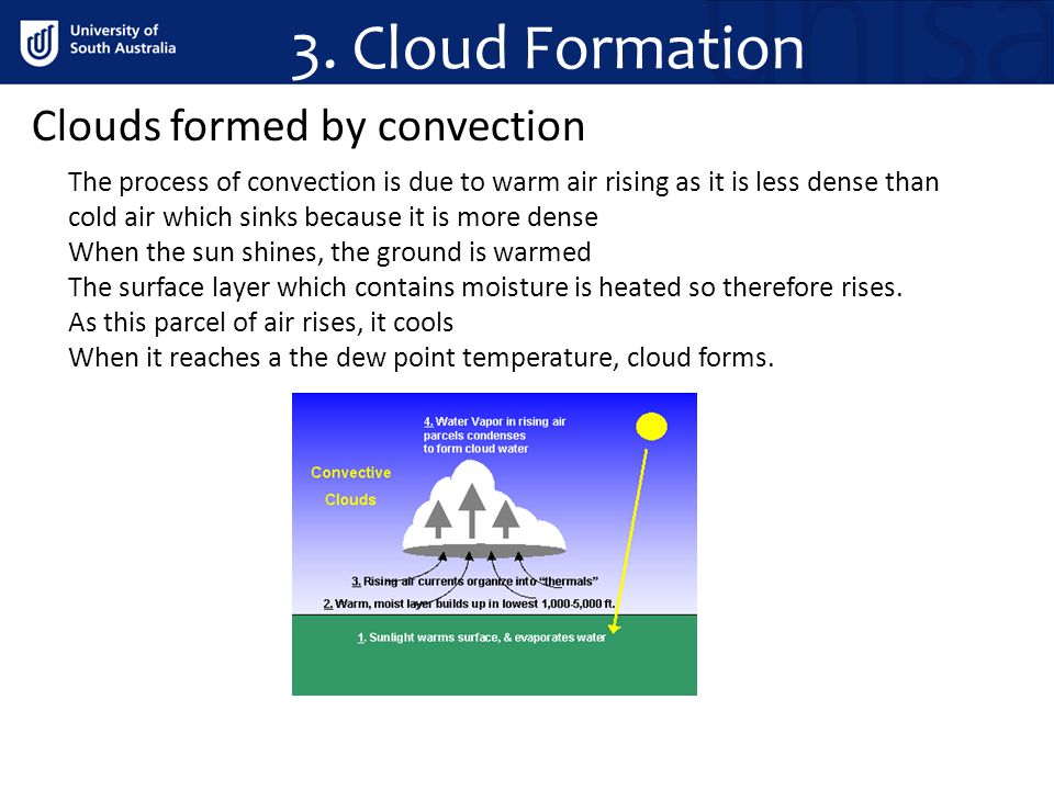 3. Cloud Formation Clouds formed by convection
