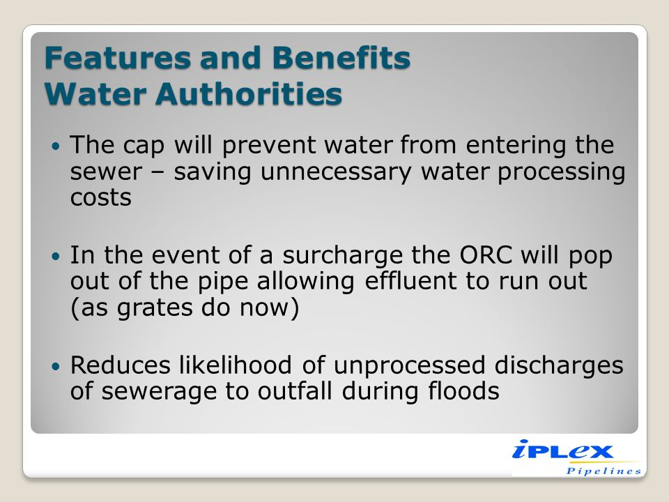 Features and Benefits Water Authorities