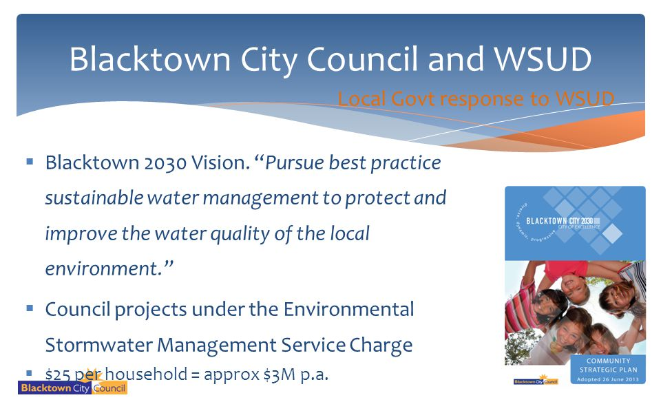 Blacktown City Council and WSUD