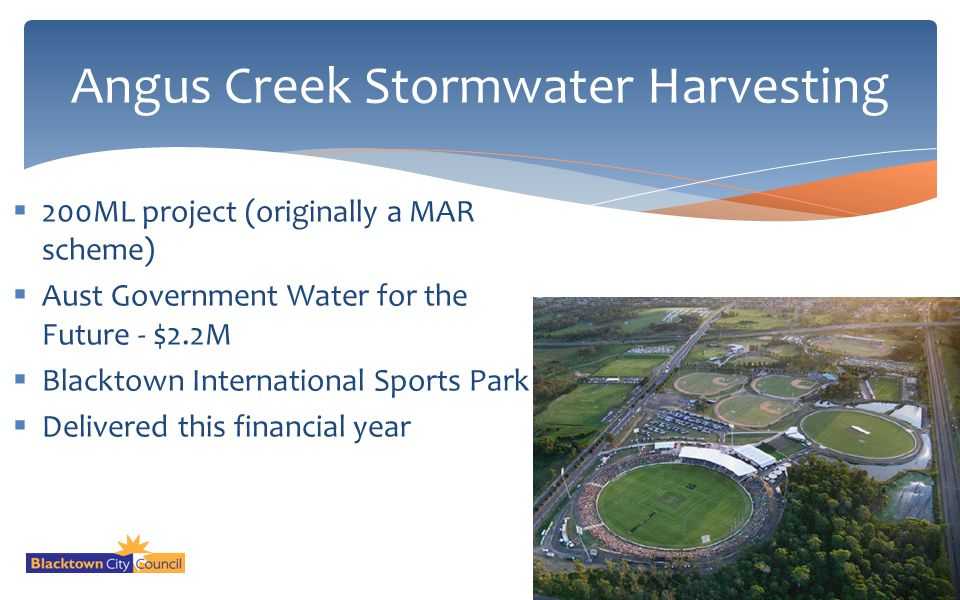 Angus Creek Stormwater Harvesting