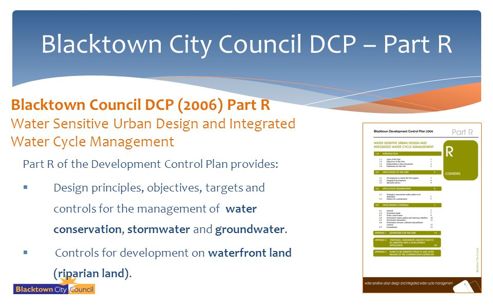 Blacktown City Council DCP – Part R