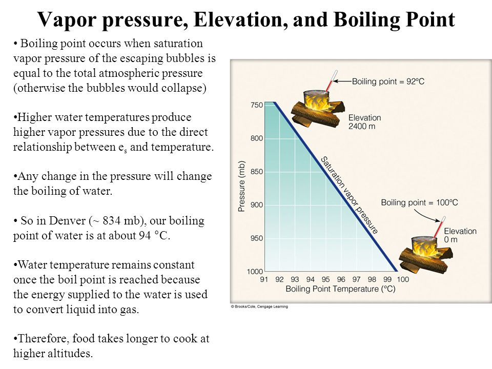 Vapor pressure, Elevation, and Boiling Point