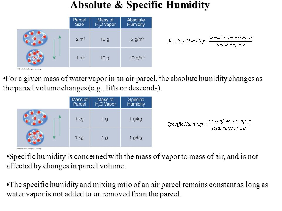 Absolute & Specific Humidity