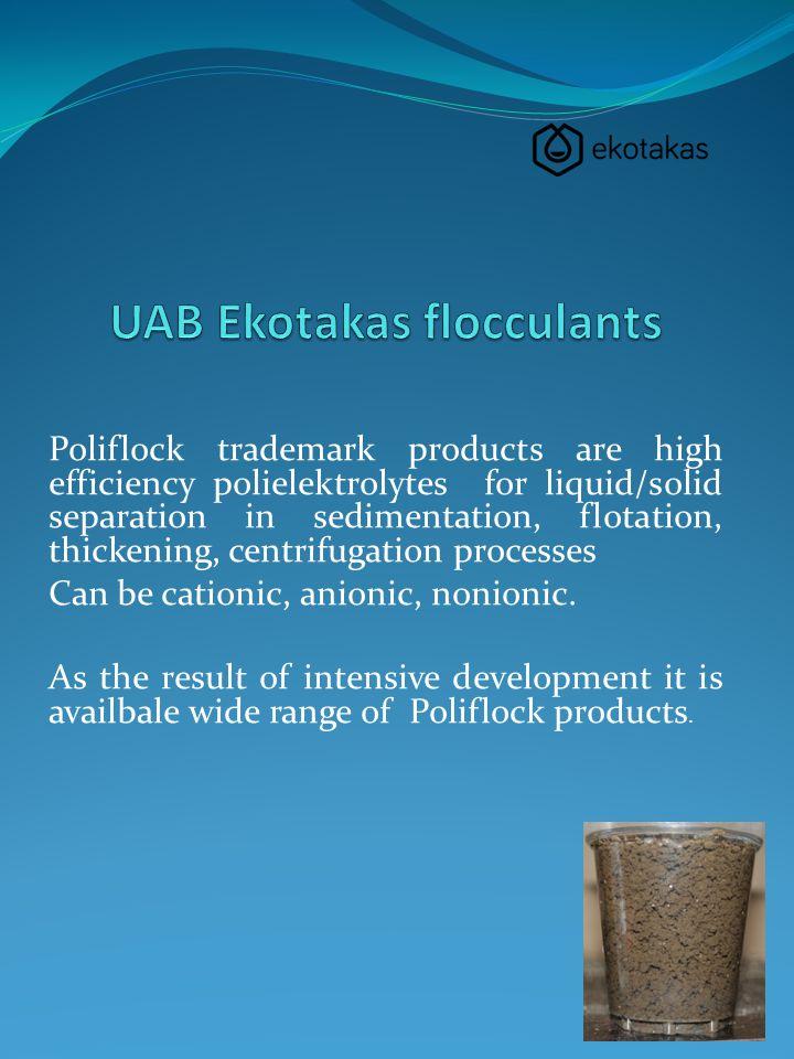 UAB Ekotakas flocculants