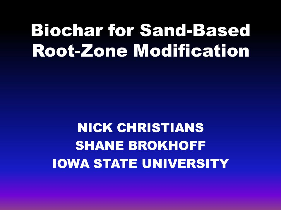 Biochar for Sand-Based Root-Zone Modification
