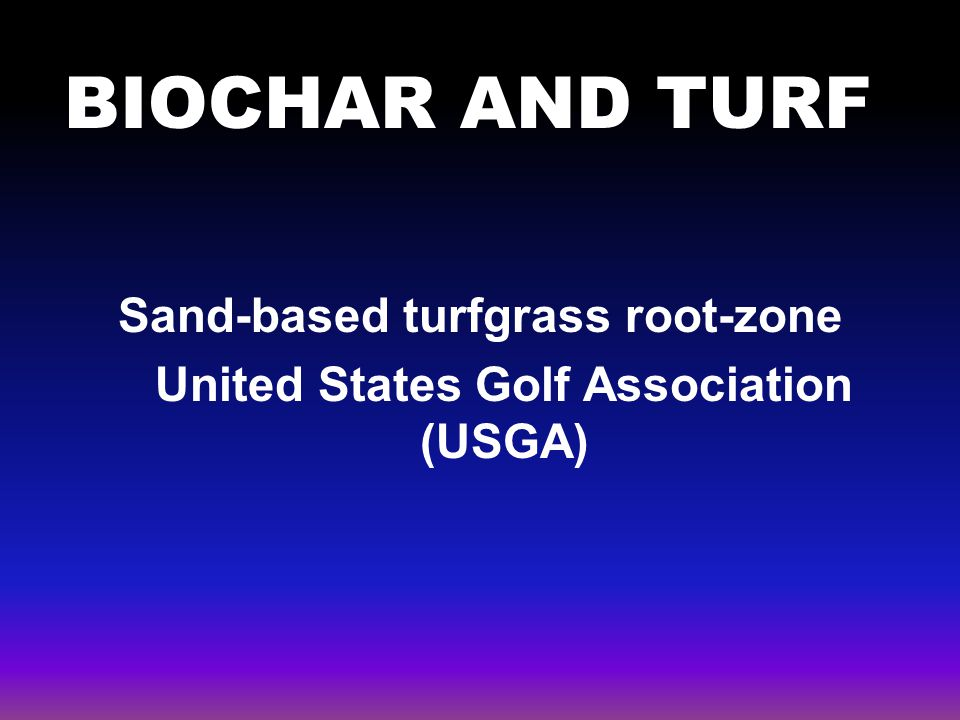 Sand-based turfgrass root-zone United States Golf Association (USGA)