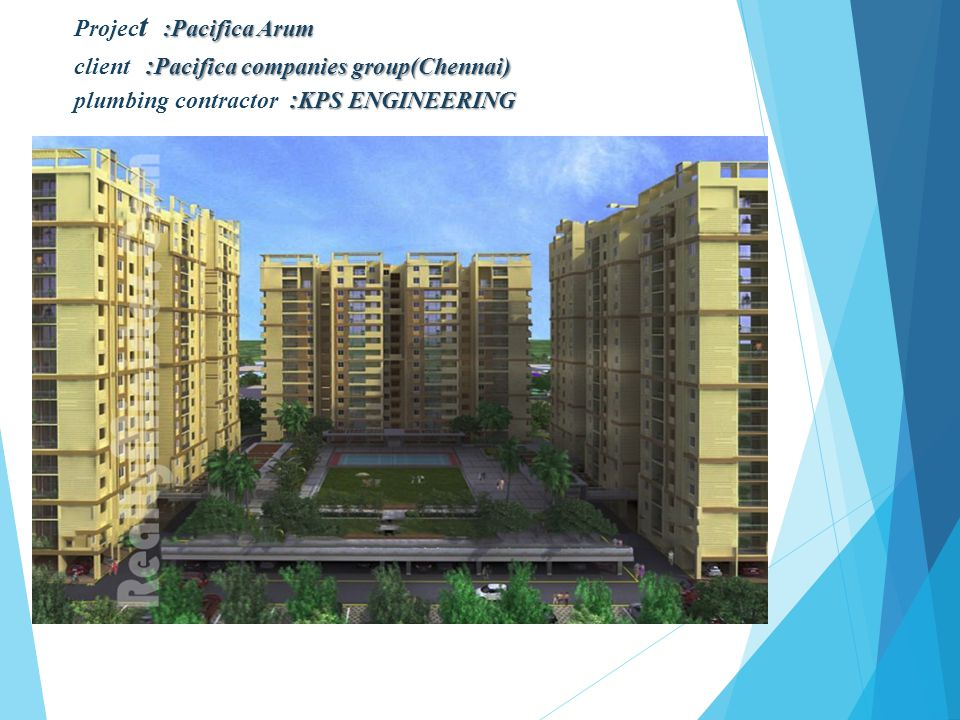 Project :Pacifica Arum client :Pacifica companies group(Chennai) plumbing contractor :KPS ENGINEERING